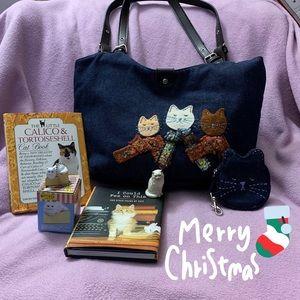 Cat Lover Purse & Book Bundle